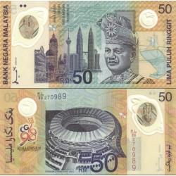 اسکناس پلیمر 50 رینگیت یادبود باریهای کشورهای مشترک المنافع ، کوالالامپور - مالزی 1998 سفارشی - توضیحات را ببینید
