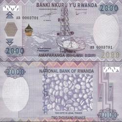 اسکناس 2000 فرانک - رواندا 2014 سفارشی - توضیحات را ببینید