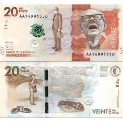 اسکناس 20000 پزو - کلمبیا 2015 سفارشی
