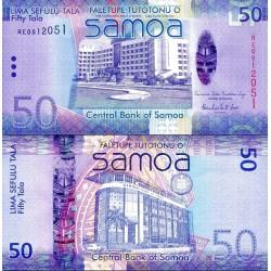 اسکناس 50 تالا  - ساموا 2014 سفارشی - توضیحات را ببینید