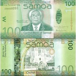 اسکناس 100 تالا  - ساموا 2014 سفارشی - توضیحات را ببینید