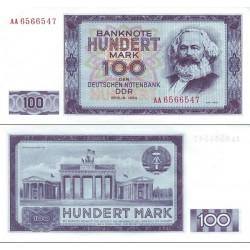 اسکناس 100 مارک - جمهوری دموکراتیک آلمان 1964 سفارشی - توضیحات را ببینید