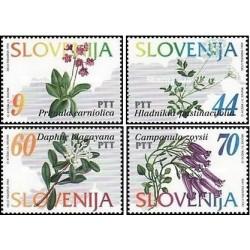 4 عدد تمبر گلهای اسلوونی - اسلوونی 1994