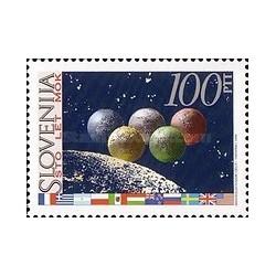 1 عدد تمبر صدمین سالگرد کمیته بین المللی المپیک - اسلوونی 1994