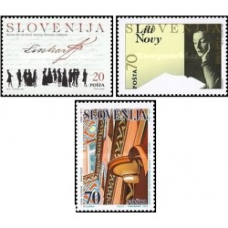 3 عدد تمبر اسلوونی والا - اسلوونی 1995