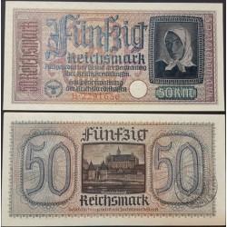 اسکناس 50 رایش مارک -قلمرو تحت اشغال آلمان - رایش آلمان 1940 سفارشی
