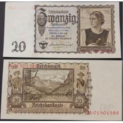 اسکناس 20 رایش مارک - رایش آلمان 1939 سفارشی