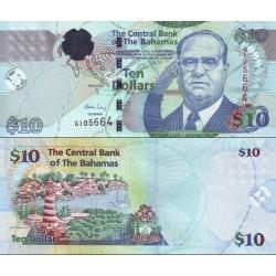اسکناس 10 دلار - باهاماس 2009 سفارشی