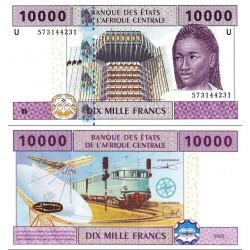 اسکناس 10000 فرانک سری U - کامرون 2002 - آفریقای مرکزی 2002 سفارشی