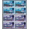 2 عدد بلوک تمبر انجمن تجارت آزاد اروپا EFTA - انگلیس 1967
