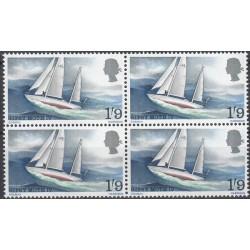 1 عدد بلوک تمبر جیبسی ماوس 4 - قایق بادبانی   - انگلیس 1967