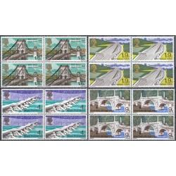 4 عدد بلوک تمبر پلها - انگلیس 1968