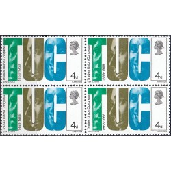 1 عدد بلوک تمبر کنگره اتحادیه تجاری - TUC - انگلیس 1968
