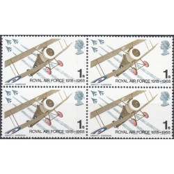 1 عدد بلوک تمبر نیروی هوائی سلطنتی - انگلیس 1968