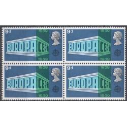 1 عدد بلوک تمبر مشترک اروپا - Europa Cept - انگلیس 1969