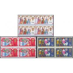 3 عدد بلوک تمبر کریستمس - انگلیس 1969
