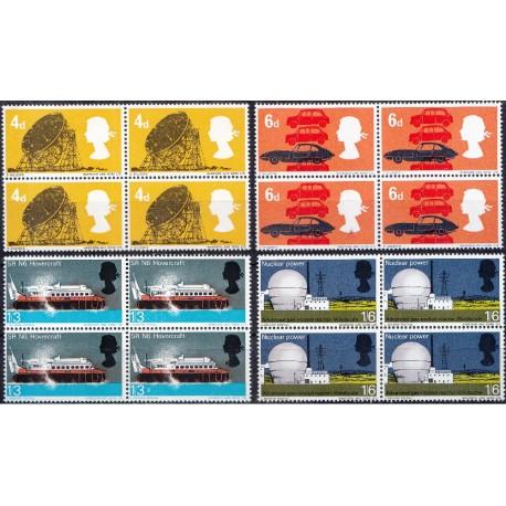 4 عدد بلوک تمبر تکنولوژی - انگلیس 1966