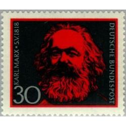1 عدد تمبر کارل مارکس - فیلسوف - جمهوری فدرال آلمان 1968