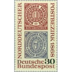 1 عدد تمبر یک قرن تمبر آلمان شمالی - جمهوری فدرال آلمان 1968