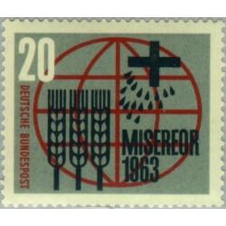 1 عدد تمبر نجات از گرسنگی - جمهوری فدرال آلمان 1963