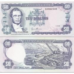 اسکناس 10 دلار - جامائیکا 1994 تاریخ  01.03.1994