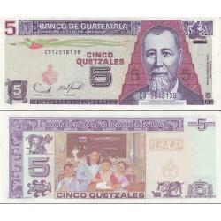 اسکناس 5 کواتزل - گواتمالا 2006