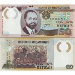 اسکناس پلیمر 50 متیکا - موزامبیک 2011