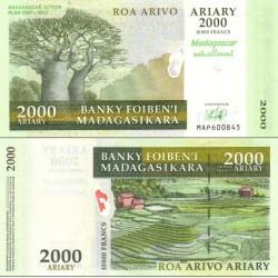اسکناس 2000 آریاری - یادبود نقشه راه ماداگاسکار - ماداگاسکار 2007