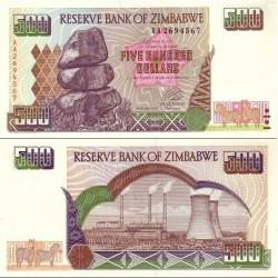 اسکناس 500 دلار - زیمباوه 2001