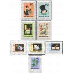 8 عدد تمبر سال نو - مجارستان 1975 قیمت 4.5 دلار