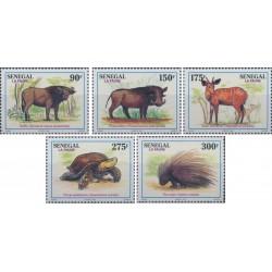 5 عدد تمبر جانوران وحشی  - B - سنگال 1995 قیمت 6.7 دلار