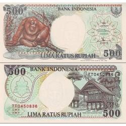 اسکناس 500 روپیه - اندونزی 1999 - تاریخ حاشیه سفید