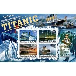 سونیرشیت یادبود صدمین سال حادثه کشتی تایتانیک - بروندی 2011 قیمت 11 دلار