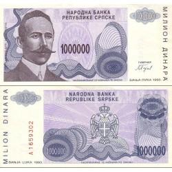 اسکناس 1.000.000 دینار - بوسنی و هرزگوین 1993