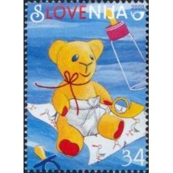 1 عدد تمبر تبریک  - اسلوونی 2000