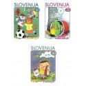 3 عدد تمبر قهرمانان کتابهای کودکان - خودچسب - اسلوونی 2000