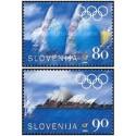 2 عدد تمبر بازیهای المپیک سیدنی ، استرالیا - اسلوونی 2000