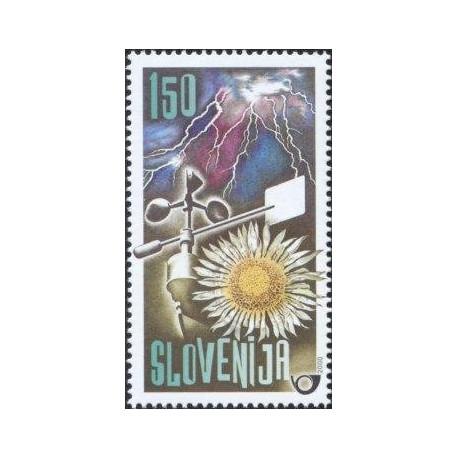 1 عدد تمبر هواشناسی آب - اسلوونی 2000