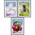 3 عدد تمبر میوه ها - اسلوونی 2000