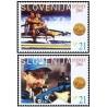 2 عدد تمبر مدالهای طلای المپیک برای اسلوونی - اسلوونی 2000