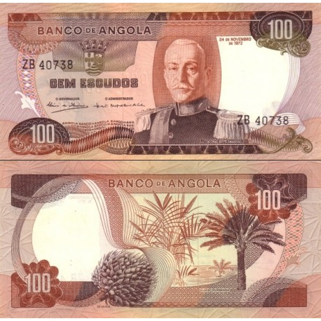 اسکناس 100 اسکودو - آنگولا 1972