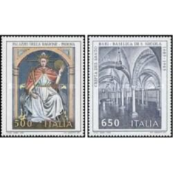 2 عدد تمبر میراث هنری - ایتالیا 1989 قیمت 2.96 دلار