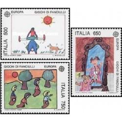 3 عدد تمبر مشترک اروپا - Europa Cept - بازیهای کودکان - نقاشی - ایتالیا 1989 قیمت 5.9 دلار