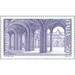 1 عدد تمبر دانشگاه در پیزا - ایتالیا 1989
