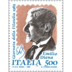 1 عدد تمبر روز تمبر - امیلیو دینا کلکسیونر تمبر  - ایتالیا 1989