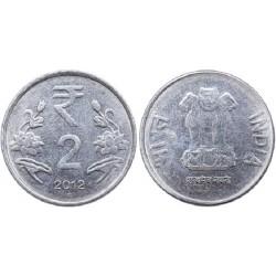 سکه 2 روپیه - فولاد ضد زنگ - هندوستان 2012 غیر بانکی