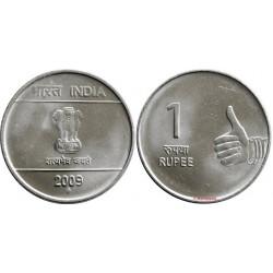 سکه 1 روپیه - فولاد ضد زنگ - هندوستان 2009 غیر بانکی