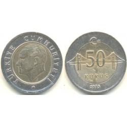 سکه 50 کروز - بیمتال - ترکیه 2018 غیر بانکی