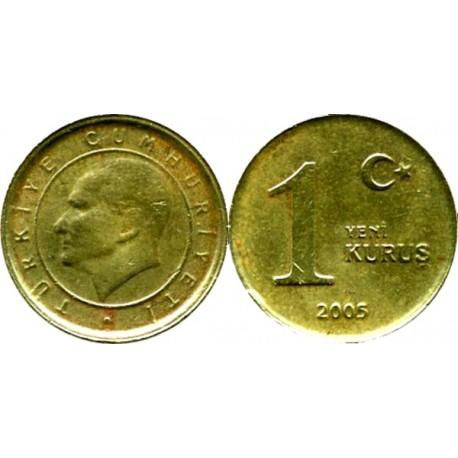 سکه 1 کروز - برنجی - ترکیه 2005 غیر بانکی