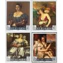 4 عدد تمبر تابلو نقاشی اثر تیزیانو وسلی یو - سان مارینو 1966